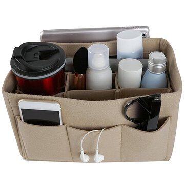 Felt Insert Bag Multi Pockets Cosmetic Organizer