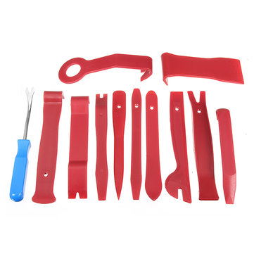 12PCS Car Auto Radio Door Clip Panel Trim Dash Audio Removal Pry Tools Kit Set