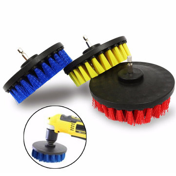 5 Inch Red/Yellow/Blue Bristle Electric Drill Brush Cleaning Brush for Dust Removal