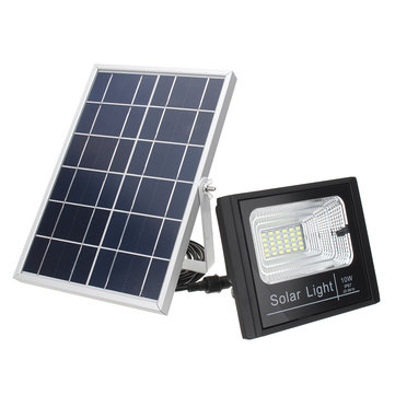 10W Waterproof Solar Power Panel Light Battery Charging Lamp Remote Control Outdoor Yard Lantern