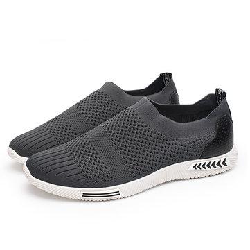 الرجال شبكة تنفس عارضة الشقق أحذية رياضية