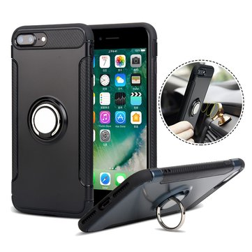 Rotating Ring Grip Holder Magnetic Soft TPU Case for iPhone 7Plus 8Plus