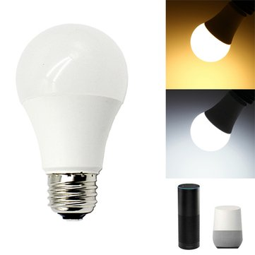 E27 11W Color Temperature Adjustable WIFI Smart LED Light Bulb Work with Alexa Goolge AC110-220V