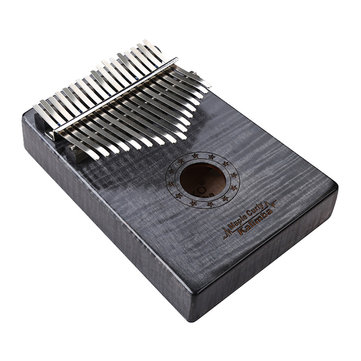 GECKO MC-B 17 Keys Kalimba Curly maple wood Thumb Piano Finger With Tune Hammer Carry Bag