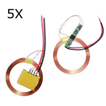5Pcs Wireless Power Supply Coil Charger Board Wireless Charging Module