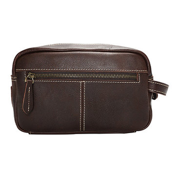 Vintage Genuine Leather Clutch Bag For Men&Women Women Cosmetic Bag