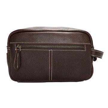 Vintage Genuine Leather Clutch Bag For Men&Women Women Cosmetic Bag