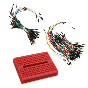 SYB-170 Red Mini Solderless Prototype Breadboard With 140pcs Jumper Cable Dupont Wire For Arduino Shield
