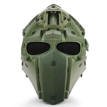 Multifonctionnel Moto Motocross Anti-choc Tactique Militaire Casque Réglable + Ventilateur + Masque + Lunettes