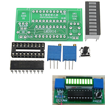 LED Power Indicator Kit DIY Battery Tester Module For 2.4-20V Battery