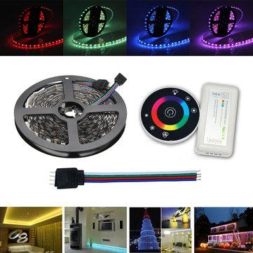 5M RGB SMD5050 LEDフレキシブルストリップテープライトキット+ RFコントローラ+コネクタケーブルワイヤー12V