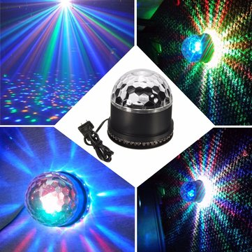 48 LED RGB Disco DJ Magic Ball Crystal Effect Light Stage Lighting KTV Party Club Lamp