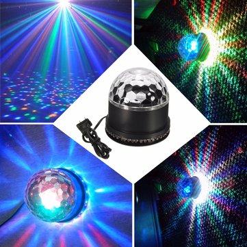 48 LED RGB Disco DJ Magic Ball Crystal Effect Light Stage Lighting KTV Party Club Lamp