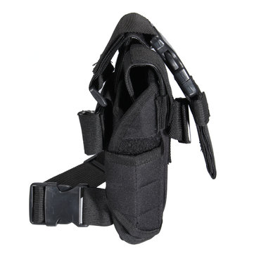Tactical Puttee Thigh Revolver Left Leg Holster Pouch Holder Hunting Bag