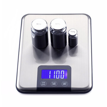 15KG 1g Slim Stainless Steel LCD Digital Weight Balance Scale Kitchen Food Diet G/KG/ML