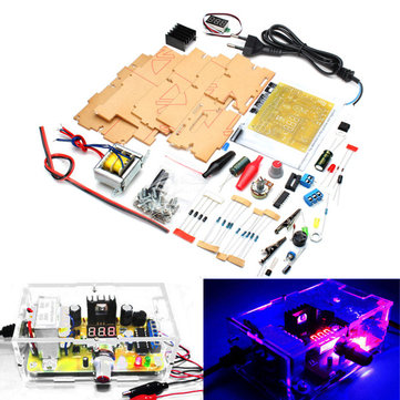 Geekcreit® EU Plug 220V DIY LM317 Adjustable Voltage Power Supply Board Kit With Case