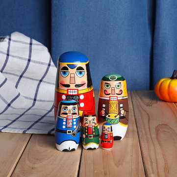 Russian Wooden Nesting Matryoshka Doll Handcraft Decoration Christmas Gifts