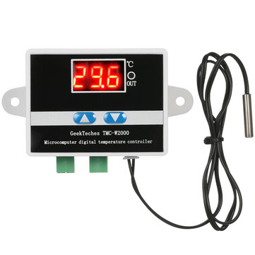 GeekTeches TMC-W2000 AC110-220V 1500W LCD Digital Thermostat Thermometer Temperature Controller Thermoregulator + Waterproof Sensor Probe