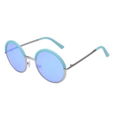 Women Ladies Retro Round Lens Uv Protection Sun Glassess Full Frame Eyewear