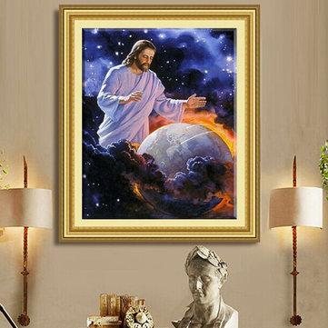 40x50cm 5D DIY Jesus Religious Culture Diamond Painting Resin Full Rhinestone Figure Cross Stitch Kit