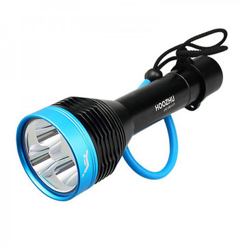 HOOZHU D30 Underwater 100m U4 3000LM 3Modes Diving Light Dive Flashlight Suit with 32650 & Charger & Bracket
