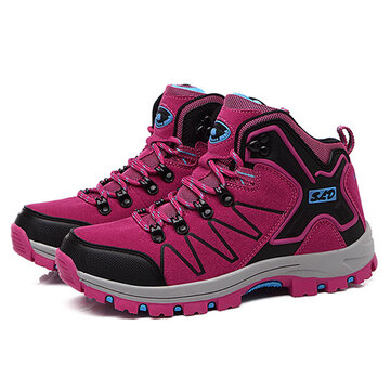 Women High Top Casual Comforbale Lace Up Outdoor Hiking Shoes