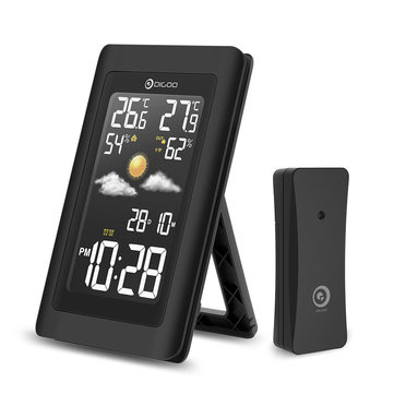 Digoo DG-TH11300 Wireless HD Negative Color Screen USB Outdoor Weather Station VA Glass Hygrometer Thermometer Digital Forecast Sensor Humidity Temperature Sensor Clock