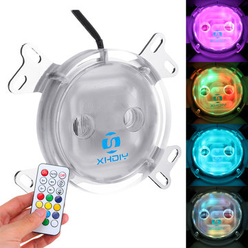 G1/4 LED Colorful Light CPU Cooler Water Cooling Water Block with Controller for Intel AM2 AM3 AM4