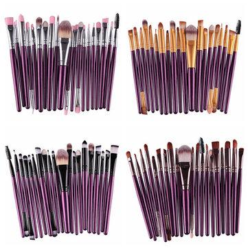 20Pcs Professional Makeup Brushes Set Synthetic Hairbrush Kit Cosmetic Powder Blsuh Foundation