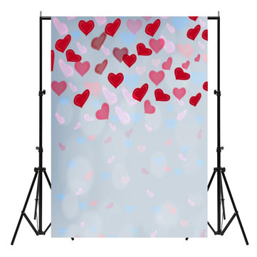 5x7ft Valentine's Day Love Heart Photography Background Studio Backdrop