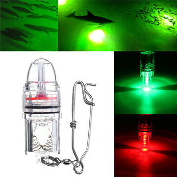 Deep Drop LED Fishing Light Underwater Red/Green 2100ft Flash Fishing Light DC3V