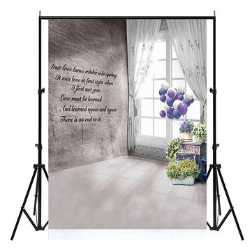3x5FT True Love Balloon Flower Backdrop Photography Background Studio Prop