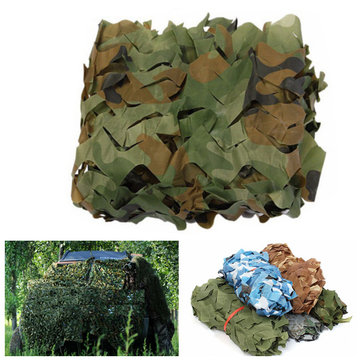 1x1.5m Camo Net Camouflage Sunscreen Cover For Camping Military Hunting Shooting Hide