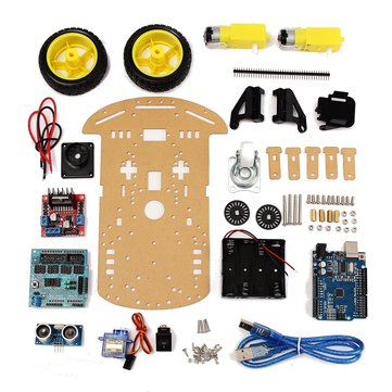 Tracking Motor Smart Robot Car Chassis Kit 2WD Ultrasonic For Arduino MCU