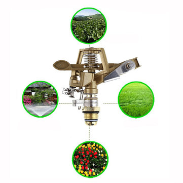 Garden Irrigation Sprinkler 360 Degree Automatic Rotating Nozzle Adjustable Rocker Water Drippers