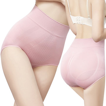High Waist 3D Honeycomb Cover Belly Tummy Hip Briefs