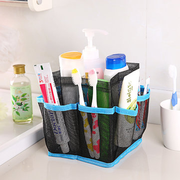 Honana BX-24 Bathroom Cosmetic Bag Storage Pouch Handle Home Travel Organizer Net Gauze Bag