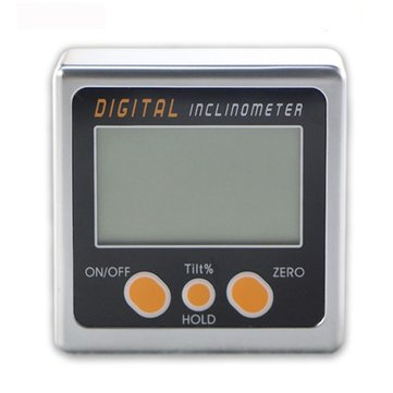 0-360° Digital Inclinometer Mini Bevel Box Angle Gauge Protractor Level Tool with Magnetic Base
