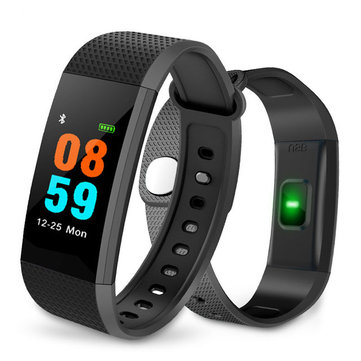 Bakeey IP68 Heart Rate Monitor Blood Pressure Fitness Tracker Message Reminder Smart Wristband