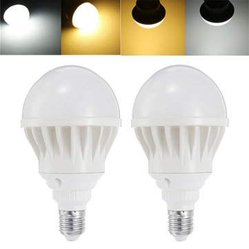 E27 15W White Shell Warm White Pure White Aluminum LED Global Light Bulb AC85-265V