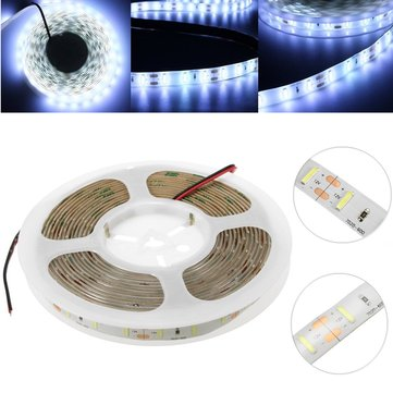 Waterproof/Non-waterproof DC12V 5M SMD 7020 300LEDs Cold White Flex Strip Light
