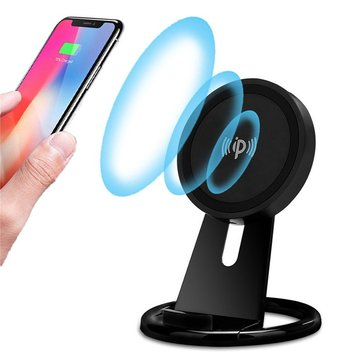 Qi Wireless Charging Up Down Adjustable Desktop Phone Holder Stand for iPhone 8 X Mobile Phone