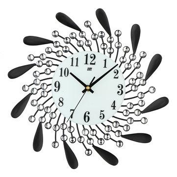 Modern Style Diamond 3D Art Wall Clock Non-Ticking Silent Movement For Home Office Decor
