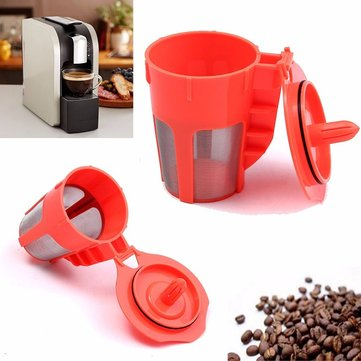 1 Pack Orange Refillable K-Carafe Reusable Coffee Filter Replacement For Keurig