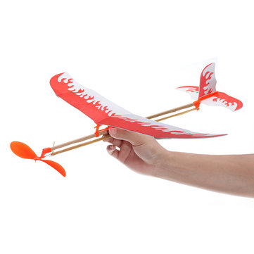 Elastic Rubber Band Powered DIY Plane Toy Kit Aircraft Model Educational Outdoor FlyingToy