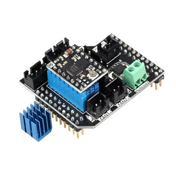 Lerdge® Dual Extruder Module 2 in 1 Out/2 in2 Out Module With A4988 Stepper Motor Driver For 3D Printer LERDGE-S Board