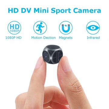 Mini 1920*1080P HD DV Recorder FPV Mini Camera FOV 140 Degree Built-in Battery Support 32G SD Card