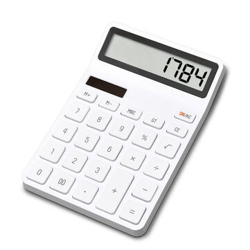 XIAOMI LEMO Desktop Calculator Photoelectric Dual Drive 12 Number Display Automatic Shutdown Calculator For Office Finance