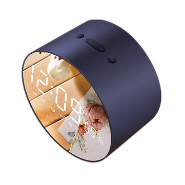 2 In 1 Alarm Clock Wireless Bluetooth Speaker Mini LED Mirror Subwoofer Waterproof Speakers With Mic
