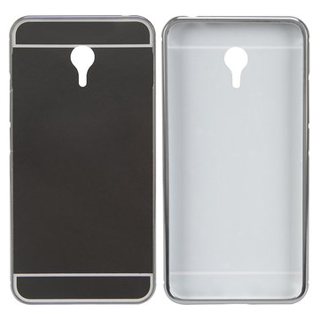 Durable Hard PC Mirror Back Aluminum Alloy Frame Case For Meizu M3 Note